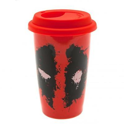 Official Licensed Product Deadpool Ceramic Travel Mug Cup Car Coffee Gift New