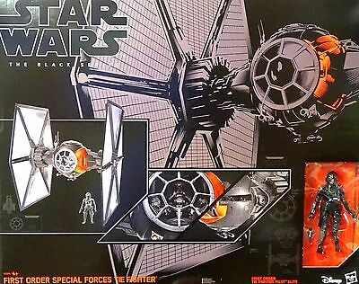 """Star Wars Black Series 6"""" Inch First Order Special Forces Tie Fighter Hasbro"""