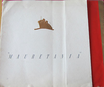 Rms Mauretania- Cunard White Star- Oversize 18 Page Booklet- Interiors- 1939