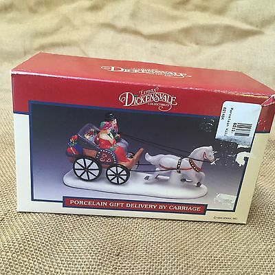 Lemax Dickensvale Collectibles Porcelain Gift Delivery By Carriage Christmas