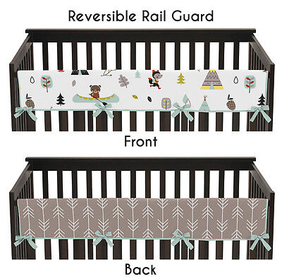 Sweet Jojo Outdoor Adventure Front Rail Guard Crib Cover Baby Teething Protector