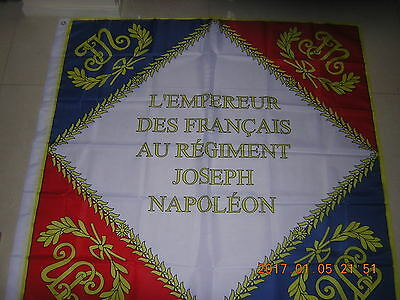 Joseph Napoleon Napoleonic Regimental Colours of France French Ensign 120X120cm
