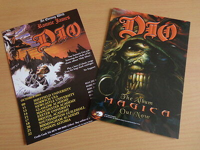 Dio Holy Diver UK Tour 2005 + Magica Promo (plus Alice Cooper) A5 Flyers (Mint!)