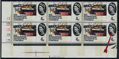 1964 Geographical 4d Cylinder block of six with varieties . . .