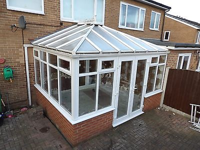 Used White Upvc Conservatory with French Doors