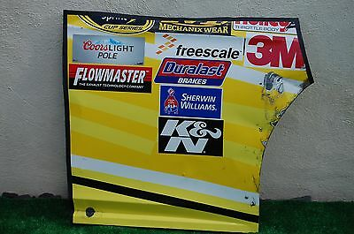 Greg Biffle #16 Safety Kleen NASCAR RACE USED Contingency Panel Sheet Metal
