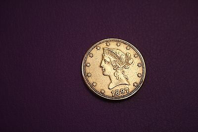 1897 Liberty Head $10 Gold Eagle Coin GREAT!!!