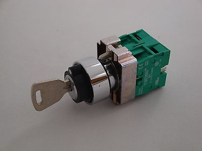 Key Switch 3 Position IP65 with 2 N/O Contacts