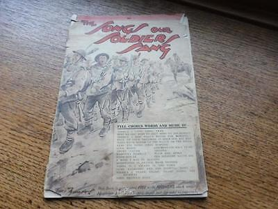 Original post WW1 songs Music book - 21 soldiers songs 1935 dated