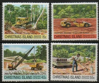 Christmas Islands Phosphate industry MNH set of 4 SG No.126 to129