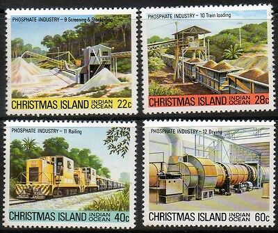 Christmas Islands Phosphate industry MNH set of 4 SG No.136 to139