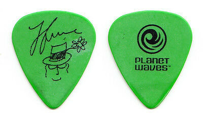 Black Crowes Jackie Greene Signature Concert-Used Green Guitar Pick - 2013 Tour