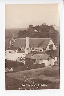 Wales Caldey  The Village Hall  Real Photo Postcard