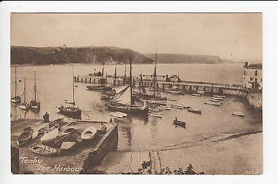 Wales Tenby The Harbour Firth Postcard