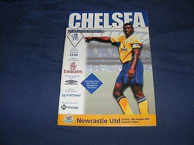 Chelsea V Newcastle United Premiership 19Th August 2001