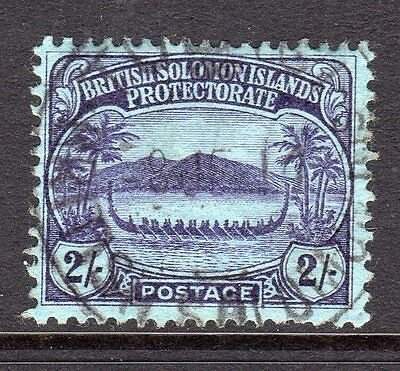 British Solomon Islands 1908  2s Purple/Blue SG15 Used