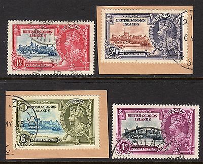 British Solomon Islands KGV 1935 Silver Jubilee Set SG53-56 Used
