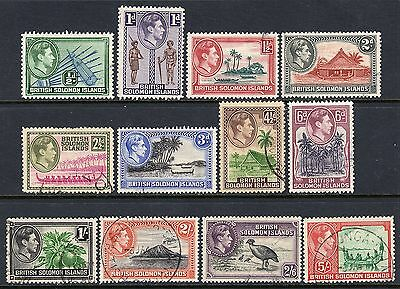British Solomon Islands KGV1  1939 Set to 5s SG60-71 Used