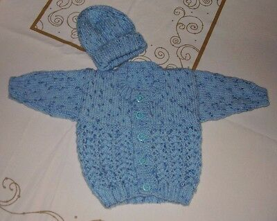 HAND KNITTED BABY BOY,s SET 0-3 MONTHS
