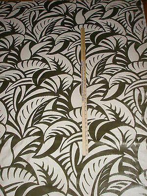 "kravet Couture CUT Velvet Fabric LEAF CONTEMPORARY ""SIGNATURE LUXE"" - IN TRUFFLE"
