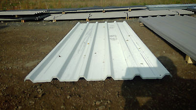 pack of 11 brand new white coated box profile roofing sheets 2.4 meter x 1meter