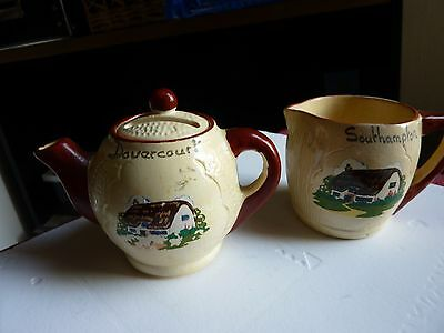 Teapot Moneybox And Jug Manor Ware - Very Good  Condition