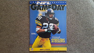 American Football Programme -  New York Giants v Pittsburgh Steelers Aug 1993