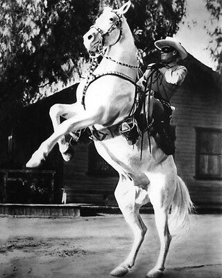 1933 THE LONE RANGER & Silver CLAYTON MOORE Glossy 8x10 Photo Actor Poster Print