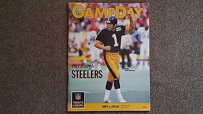 American Football Programme -  New York Giants v Pittsburgh Steelers Sept 1989