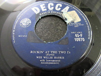 """Wee Willie Harris """"rockin' At The Two I's"""" Rare Decca 7"""" (Rockabilly)"""