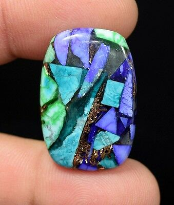 21.55  Cts.  Natural  Colorful  Copper  Howlite  Cushion  Cab Loose  Gemstones