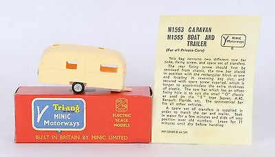 Triang Minic Motorways M1553 CARAVAN & INSTRUCTIONS NEAR MINT BOXED