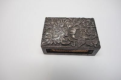Vintage 1900 S. Kirk And Son Sterling Silver Chased Floral Match Safe Box Cover