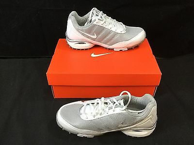 Nike Air Team Destroyer 3 Women's Lacrosse Cleat - White/White/Silver, Size 5
