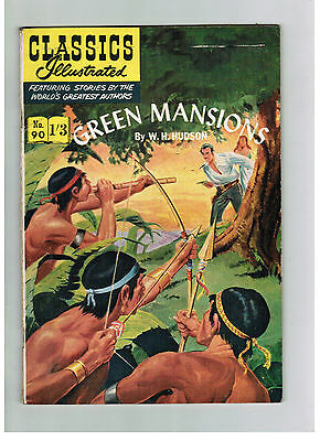 CLASSICS ILLUSTRATED COMIC No. 90 Green Mansions HRN 126
