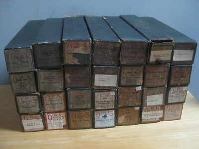 28 Antique O. R. S. Player Piano Music Rolls With Boxes As Is Untested Ors