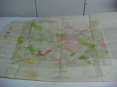 great old prospector gold mining map quebec department  mines amos abitibi 1934