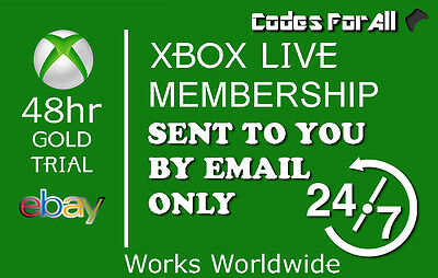 Xbox Live 1 Month Trial Membership - 2 x 14 Day Codes - INSTANT DISPATCH 24/7