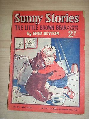 Enid Blyton's Sunny Stories No 396 27th December 1946 The Little Brown Bear