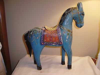 Large Handcrafted Wooden HORSE from India
