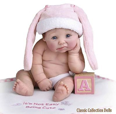 "Ashton Drake ""IT'S NOT EASY BEING CUTE""- MINIATURE BABY DOLL-NEW-IN STOCK NOW!"