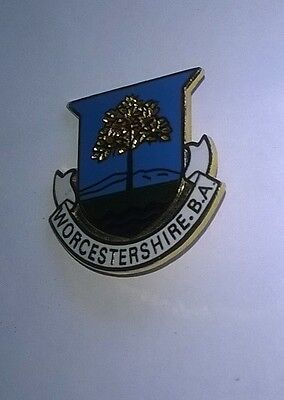 Worcestershire   B A    Bowls Badge
