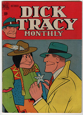 Dick Tracy Monthly #10 Dell Golden Age Comic by Chester Gould VG condition