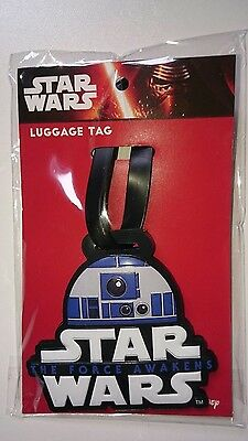Star Wars R2D2 The Force Awakens Rubber Luggage Tag - Bnip