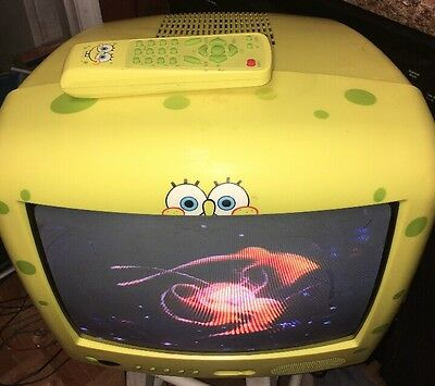 SPONGE BOB SQUARE PANTS TV TELEVISION with REMOTE WORKS GREAT  Model  Sb314