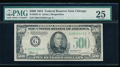 AC 1934 $500 FIVE HUNDRED DOLLAR BILL Chicago PMG 25 comment
