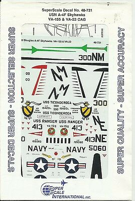 Microscale Superscale Decals 48-721 A-4F Skyhawk decals in 1:48 Scale