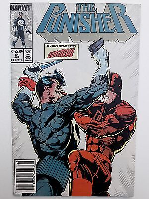 PUNISHER #10, 1988, FN+ 6.5, crossover with Daredevil #257, by Baron & Portacio