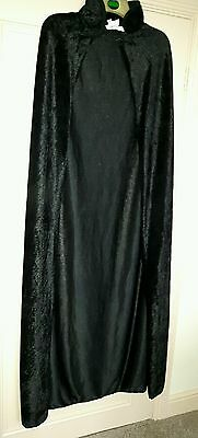 Black Crushed Velvet Dracula Goth Cape