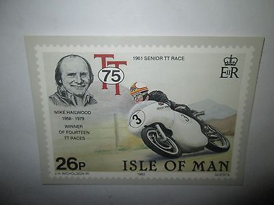 1961 TT MIKE HAILWOOD  75th ANNIVERSARY OF THE TOURIST TROPHY  POST CARD
